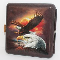 Wild and Free Zigaretten Etui 20er Eagle Sunset