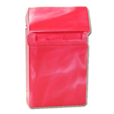 Zigaretten-Etui Plastik rot