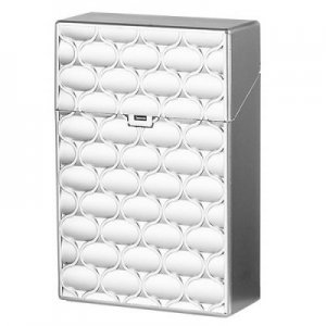 Clic Boxx 20er Deluxe Silber No 1 Zigarettenbox