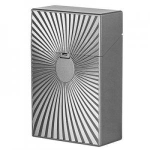 Clic Boxx 20er Deluxe Silber Grau No 2 Zigarettenbox