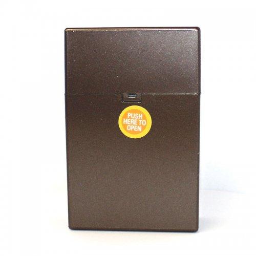 Zigarettenbox Kunststoff 20er Click Box Antrazith
