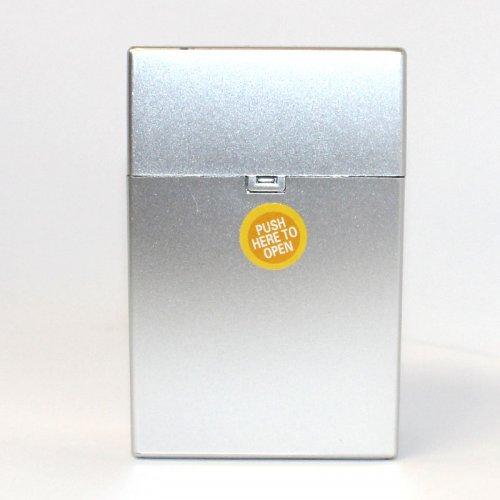 Zigarettenbox Kunststoff 20er Click Box Silver