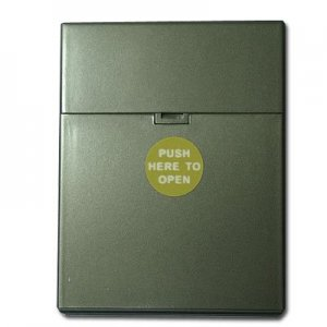 Zigarettenbox Kunststoff 25er Click Box Anthrazit