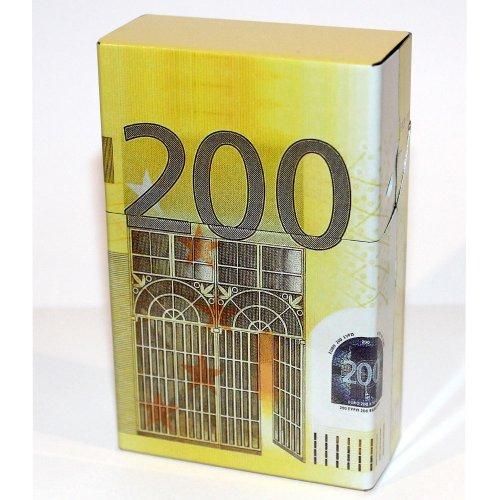 Zigarettenbox Metall 200 Euro Design Magnetverschluss