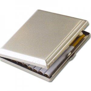 Zigarettenetui Metall Chrom Satiniert