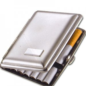 Zigarettenetui Metall Nickel satiniert