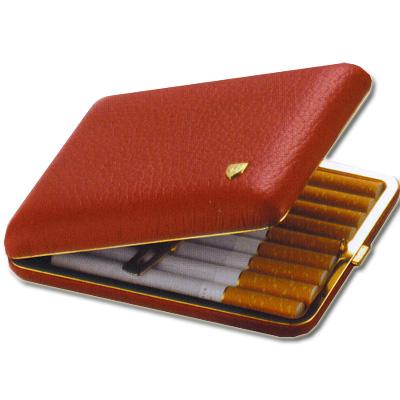Zigarettenetui aus echtem Hirsch-Leder Rot
