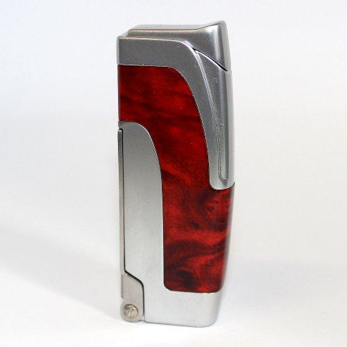 Zigarrenfeuerzeug Braun/Chrom
