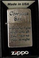 Zippo Feuerzeug Confucius Say
