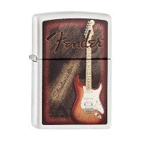Zippo Feuerzeug Fender Stratocaster weiß matt