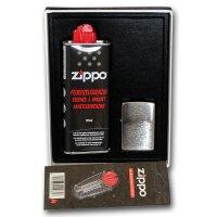Zippo Feuerzeug Geschenk-Set Chrom Brushed