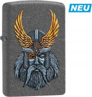 Zippo Feuerzeug Iron Stone color Odin Head