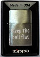 Zippo Feuerzeug Keep the ball flat