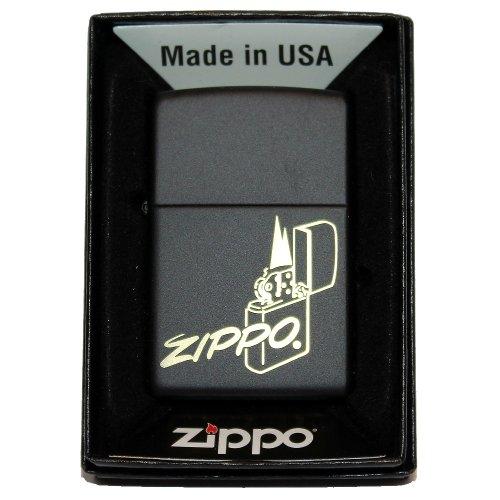 Zippo Feuerzeug Schwarz Logo