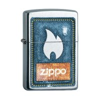 Zippo Feuerzeug Street chrom Denim and Flame
