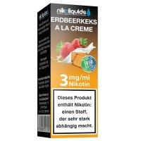 E-Liquid NIKOLIQUIDS Erdbeerkeks a la Creme 3mg Nikotin