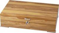 Humidor Echtholzfurnierung Apfelbaum Holz für 50 Stück Zigarren