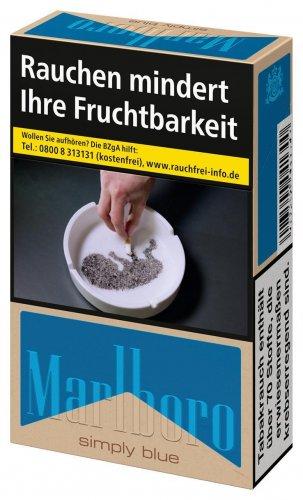 Marlboro Simply Blue Zigaretten ohne Zusätze online kaufen