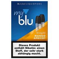 myblu Pods Mango Apricot 18 mg 2er Pack