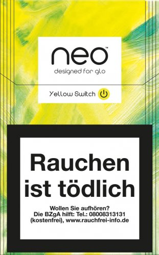 Einzelpackung neo Yellow Switch Tobacco Sticks für Glo 1 x 20 Stück