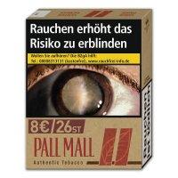Pall Mall Authentic Red ohne Zusätze (8x26)