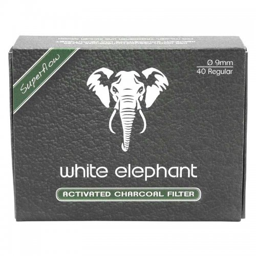 White Elephant 40 Activated Charcoal Filter 9mm