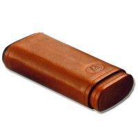 Zigarrenetui Braun für 3 Zigarren Mittlerer Größe