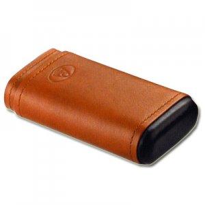 Zigarrenetui für 3 Zigarren Mittlerer Größe Braun