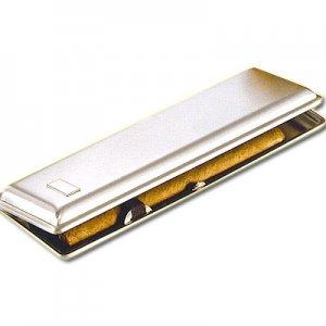 Zigarrenetui Nickel 3er Schlank und Elegant