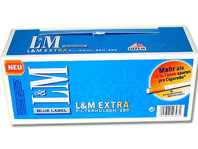 LM Extra Blue Label Zigarettenhülsen