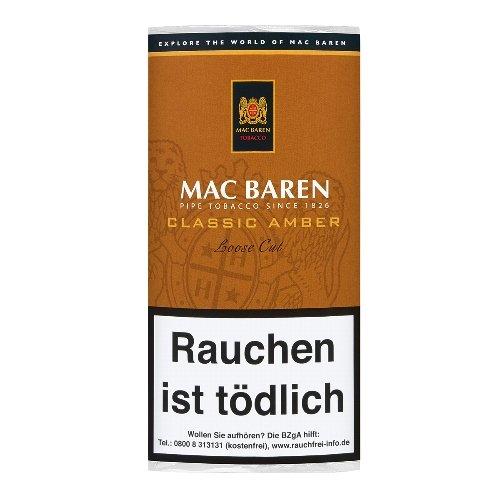 Mac Baren Pfeifentabak Classic Amber (ehem.Toffee Cream) 50g Päckchen