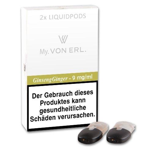 E-Kartusche VON ERL MY Tabak Nature Ginseng 9 mg 4 Stück