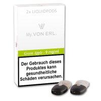E-Kartusche VON ERL MY Green Apple 9 mg 2 Stück