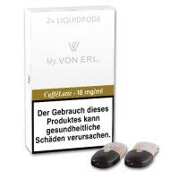 E-Kartusche VON ERL MY Caffe Latte 18 mg 2 Stück