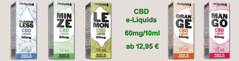 CBD Cannabidiol e-Liquids online kaufen