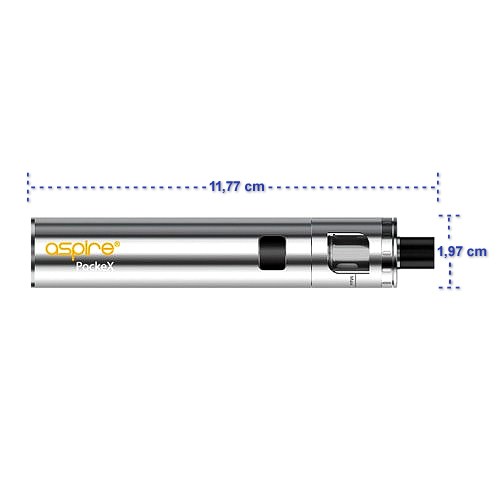 Aspire PockeX E-Zigarette Abmessungen