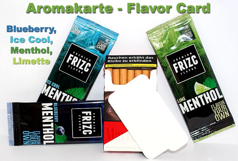 Flavor Card - Aromakarte mit Menthol Geschmack