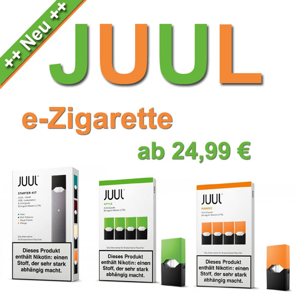 Juul e-Zigarette und Juul Pods