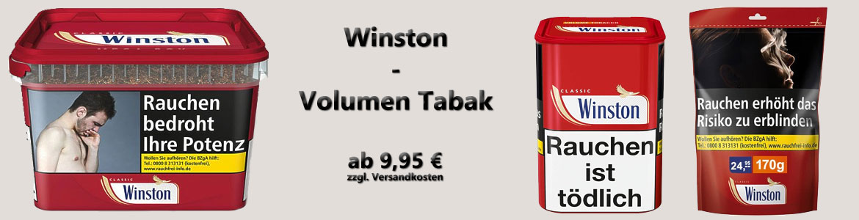 Winston Tabak Beutel und Eimer