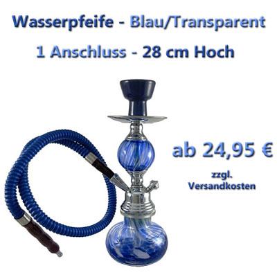 Wasserpfeife - Shisha Blau Transparent