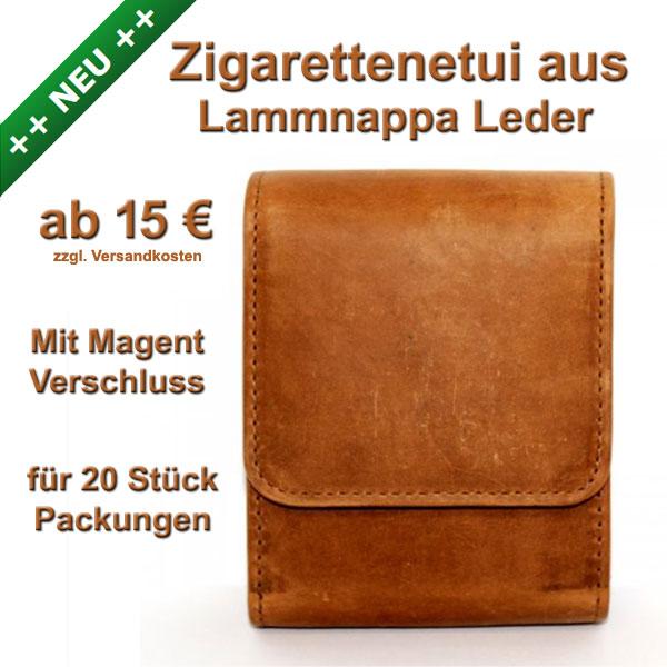 Zigarettenetui Leder Lammnappa