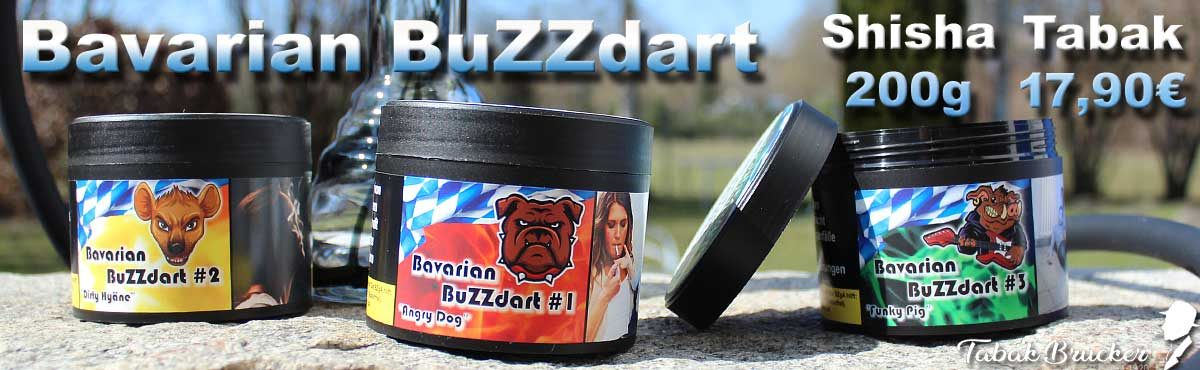 Wasserpfeifentabak Bavarian Buzzdart für die Shisha jetzt online kaufen