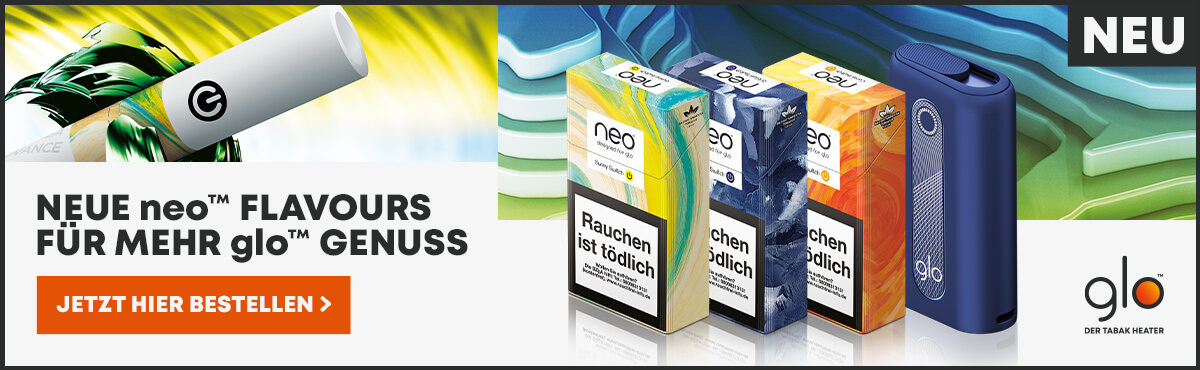 Glo Tabakerhitzer und Neo Tabaksticks online kaufen