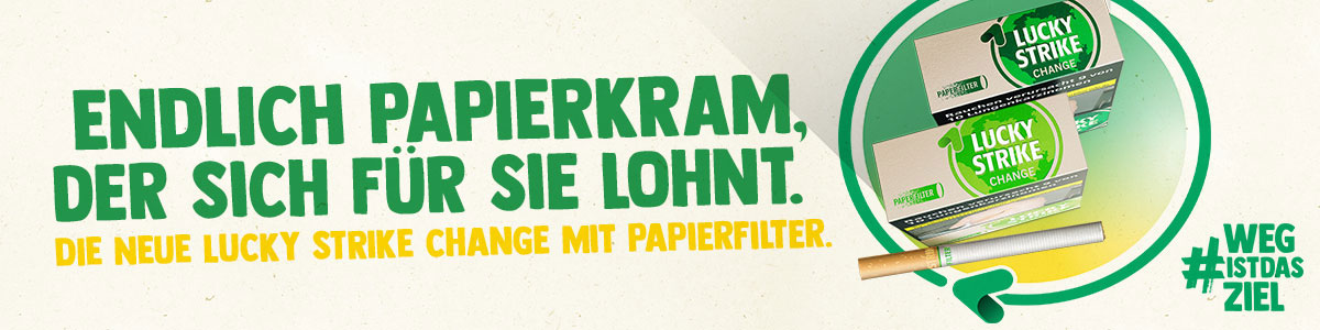 Lucky Strike Change Green Zigaretten mit Papierfilter